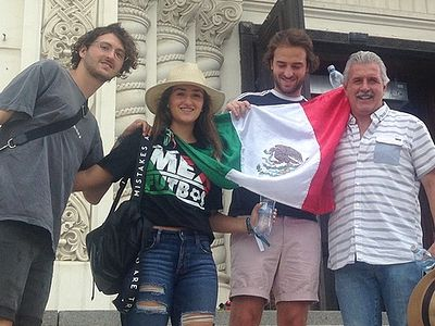 500 Mexican soccer fans visit giant Ascension Cathedral in Novocherkassk