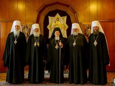 Ecumenical Patriarch tells canonical Ukrainian delegation he does not support autocephaly for schismatics