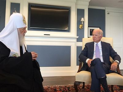 Joe Biden meets with fake Ukrainian patriarch, expresses his support for creation of autocephalous Ukrainian church