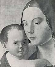 Антонелло де Мессинья. Мадонна Бенсон ок. 1470-1473 г. фрагмент